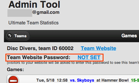 set password screenshot